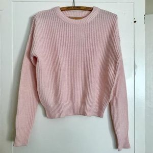 URBAN OUTFITTERS SOFT LIGHT PINK SWEATER